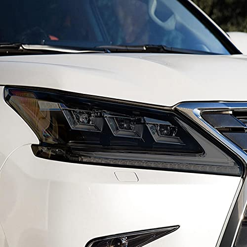 YYHHADM Car Headlight Protective Film Taillight Smoked Black Tint Wrap Vinyl TPU Sticker,for Lexus LX570 2016 2017 2018 2019 2020 2021