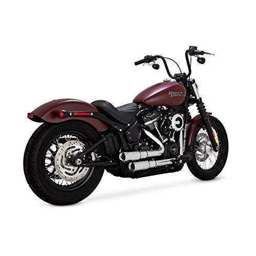 Scarichi Marmitte Complete Vance&Hines 46878 V&H MINI GRENADES 2-2 Cromate per Moto Harley Davidson Softail 2018-2019 SOFTAIL, DELUXE, FAT BOB, LOW RIDER, SLIM, STREET BOB