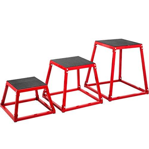 BuoQua 12/18/24 Inch All Set Plyometric Box Exercise Plyometric Platform Jump Box Plyometric Training Jump Squat Box Fitness Box Set for Jump Training (Set of 12'' 18'' 24'')