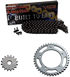 Volar O-Ring Chain and Sprocket Kit - Black for 1986-1987 Honda Rebel 450 CMX450C