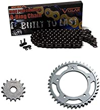 Volar O-Ring Chain and Sprocket Kit - Black for 2006-2015 Triumph Bonneville T100 Black