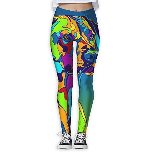 XXBOTEX Women's Skinny Yoga Pants Multi-Color Rhodesian Ridgeback Dog Fashion Jogger Pants Workout Running Leggings White