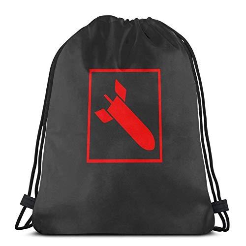 Quake 3 Arena - Raketenwerfer Sport Sackpack Kordelzug Rucksack Gym Bag Sack
