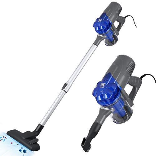 Aspirapolvere senza sacco verticale Scopa elettrica con Filo Aspirapolvere Ciclonico compatto leggero 600 W