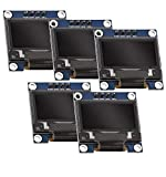 AZDelivery 5 x Modulo Pantalla OLED Display I2C 128 x 64 pixeles 0.96 Pulgadas compatible con Arduino y Raspberry Pi con E-Book incluido!
