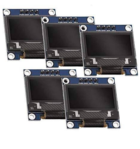 AZDelivery 5 x 0,96 Zoll OLED Display I2C 128 x 64 Pixel I2C Bildschirm Anzeigemodul mit weißen Zeichen kompatibel mit Arduino und Raspberry Pi inklusive E-Book!