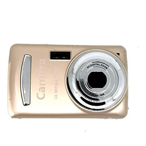 XJ03 Prácticas duraderas para niños Cámara fotográfica Digital compacta de 16 Millones de píxeles Cámara portátil para niños, niñas y niños - Oro