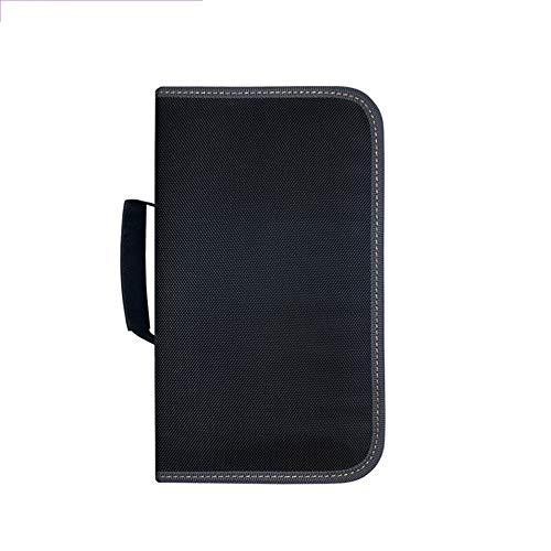 Jinzsnk Estuche para Almacenamiento de CD Caja de Almacenamiento de CD CD/DVD Caso Carpeta 120 Disco 28.5x16x9.2cm Titular Capacidad de Almacenamiento (Color : Black, Size : 28.5X16X9.2CM)