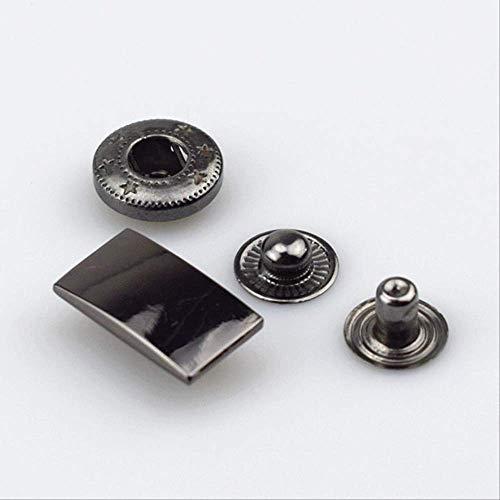 Metalen Snap Bevestigingsknoppen voor DIY Naaien Tassen Kleding Jas Down Jacket Leer Craft Accessoires 30sets Pistool Zwart