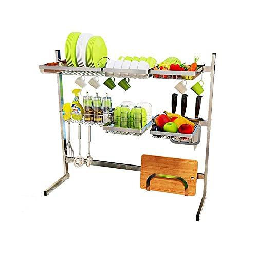 Muebles para el hogar Rejilla para fregadero de acero inoxidable Rejilla para desagüe Soporte para lavavajillas Estante de cocina Cesta de almacenamiento de verduras y frutas Tabla de cortar Cuchil