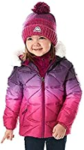 Snozu Girl's Hypoallergenic Puffy Down Jacket with Beanie Berry Purple (2T)