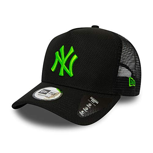 New Era New York Yankees MLB Cap Kappe Trucker Baseball Diamond Era Schwarz Neon Grün - One-Size