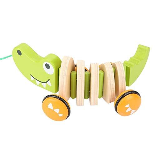 Rishx-toy 2020 Nouveau Tout-Petit Drag Voitures en Bois Jouets for Enfants Walk-A-Long Pull Corde à la Main Jouet Crocodile Jouet 1-3 Ans Vieux bébé drôle Jouets