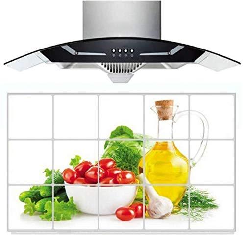 Impermeable Anti-Mancha De Aceite Decoración De La Cocina Etiqueta De La Pared Azulejo Decal75 * 45Cm