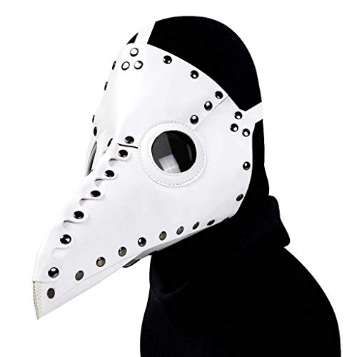 Steampunk - Funda de piel para la cara, diseño de pájaro, diseño de pájaro
