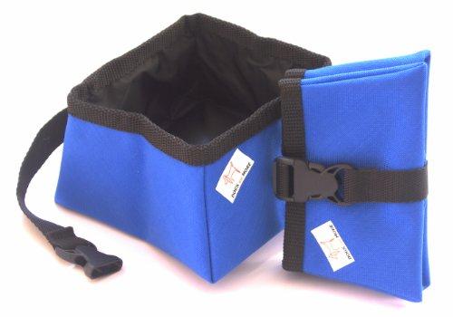 Dogs and More - Faltbarer Wassernapf (Reisenapf/Trinknapf/Hundenapf) - Medium 1,0 Liter in Rot, Blau, Gelb oder Grün