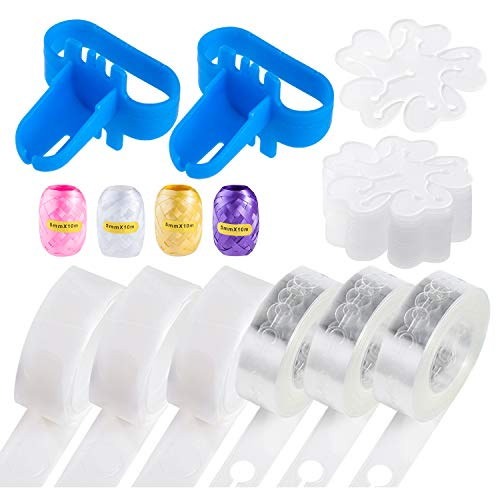 Upgraded Balloon Arch kit and Balloon Garland Kit,300 Super Adhesive 50 Feet Stronger Balloon Garland Strips 2 Balloon Tie Tools for Ballon Arch Kits Suitable for Birthday Wedding Party
