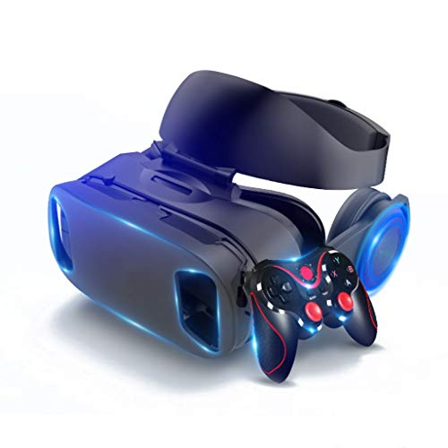 Occhiali VR 3D Visore Realtà Virtuale Compatibile con Tutti Gli Smartphone e Guarda Film per iPhone 12/11/X/8/7/6 per Samsung S10/S9/Note10/9 telefoni Android, 4.7-6.8in, H067ZJ