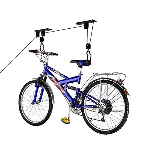 PrimeMatik - Supporto per appendere le biciclette al soffitto con corde e carrucole