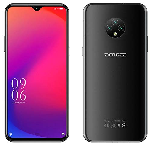 4G Smartphone ohne Vertrag Günstig Android 10 (2020), DOOGEE X95 Dual SIM Handy, 6,52-Zoll-Wassertropfen Vollbild, 4350mAh-Akku, 2GB+16GB, 13MP+2MP+2MP+5MP, GPS-WiFi, Gesichtserkennung Schwarz