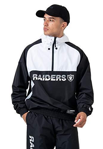 New Era Oakland Raiders - Chaqueta cortavientos para hombre, Hombre, Chaqueta cortavientos para hombre., 12033397, Negro , medium