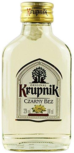 NEUHEIT: Krupnik Holunder in der Probiergröße | Polnischer Geschmackswodka/Likör | 32%, 0,1 Liter