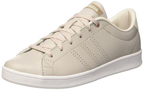 adidas adidas Damen Advantage CL QT Sneaker, Grau (Pearl Grey/Pearl Grey/Trace Khaki), 41 1/3 EU