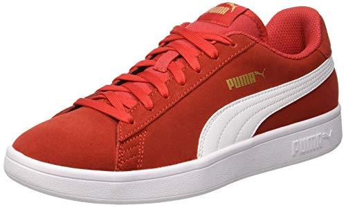 Puma Smash V2 Scape per Sport Outdoor Unisex - Adulto, Rosso (High Risk Red-Puma White-Puma Team Gold), 44.5 EU