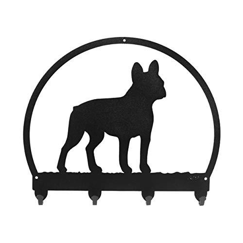 SWEN Products French Bulldog Metal Key Chain Hanger - Leash Holder