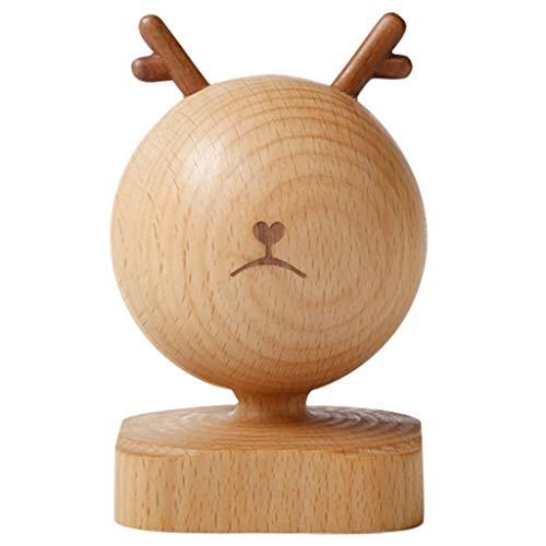 jixi Caja de música con emoticonos, caja de música de madera, caja de música curativa, bonita caja de música, caja de música decorativa, caja musical (color: Spirited Away, tamaño: serio)