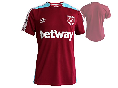 UMBRO Herren West Ham SPN Training Jersey – New Rotwein/bluefishgenericname/weiß, medium