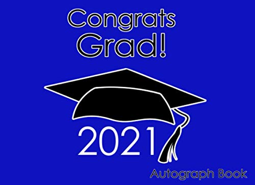 Compare Textbook Prices for Autograph Book for Graduation 2021: Gift for School or Party Blue  ISBN 9798733712383 by Headquarters, Amazing