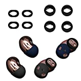 (2 Sets) Seltureone Compatible for Samsung Galaxy Buds Live Earbuds Accessories, Non-Slip Sound Leakproof Cover with Ear Tips for Galaxy Buds Live, Black, Navy