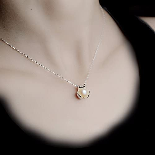 WFYJY-pures silber halskette hibiscus Blaume pearl anh er anh er schlüsselbein.