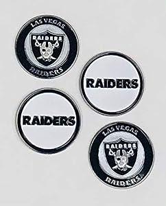 NFL Las Vegas Raiders Golf Ball Marker (Set of 4) by Team Golf