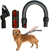 Dog Pet Grooming Brush & Extension Vacuum Hose compatible with Dyson V11 V10 V8 V7 V6 Vacuum Cleaner with Quick Release Converter Adapter Groom Tool Attachment
