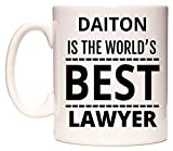 DAITON Is The World's BEST Lawyer Taza por WeDoMugs®
