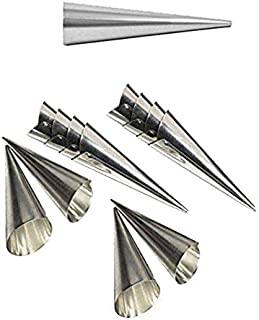 Lot de 12 petits moules en acier inoxydable 11 x 3,8 cm