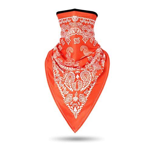 ECYC Cache-Cou Bandana Triangle Balaclava 3D Masque De Masque De Ski De Snowboard, Orange