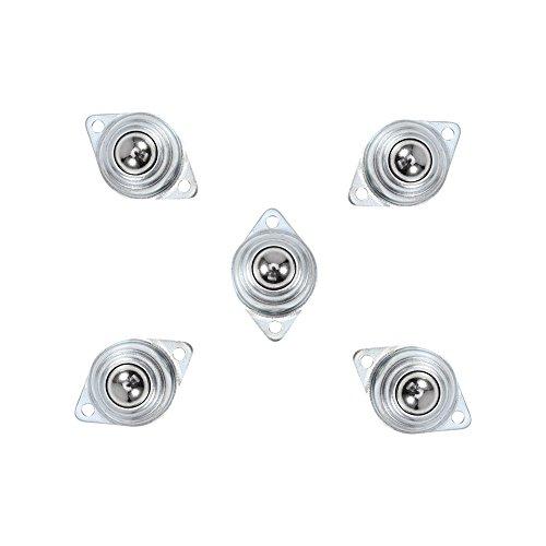 5pcs Sillas 15mm Rodamientos de Bola de Metal Rodamiento de Transferencia Rueda de Bola para Transmisión, Muebles