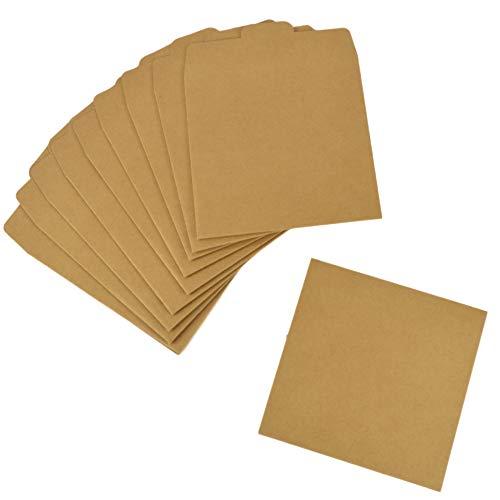 【TKY】 CD DVD ケース スリーブケース 収納 整理 封筒 プレゼント クラフト紙 持ち運び 包装 13x13cm 50枚 セット