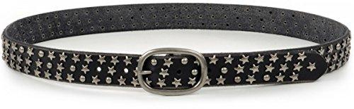 Cowboysbelt, THE BELT 309033, Gürtel, Leder, Ledergürtel, Schwarz, Gürtellänge:95