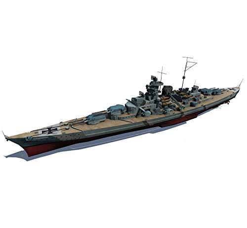 EP-Model 1: 700 De La Segunda Guerra Mundial Acorazado Modelo, Restore Alemania Bismarck Battleship, Bricolaje Montado Juguetes Manuales (13