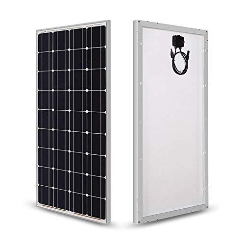 HMLIGHT Panel Panel Solar monocristalino 100W 12V Solar con Conectores MC4 Módulos de Alto Rendimiento de energía fotovoltaica para Cargar la batería de Barcos, caravanas, autocaravanas y Cualquier