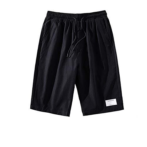 Cuyoc - Pantalones cortos para hombre, de secado rápido, de cinco puntos, finos Negro...