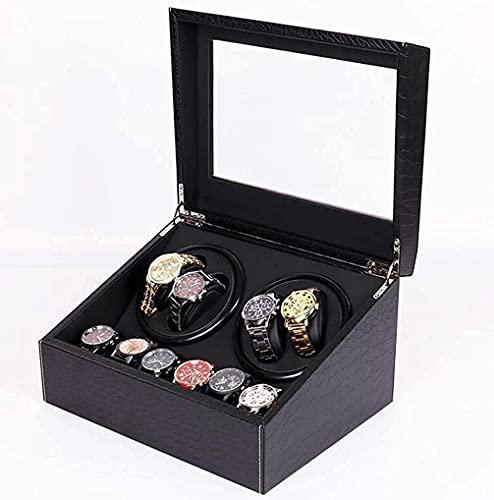 N\C Cajas giratorias para Relojes, Caja de Reloj 4 + 6 Caja automática de enrollador de Reloj Importado Mabuchi Motor silencioso Cuero de PU Caja de Almacenamiento de Reloj Cajas de Reloj Presente,