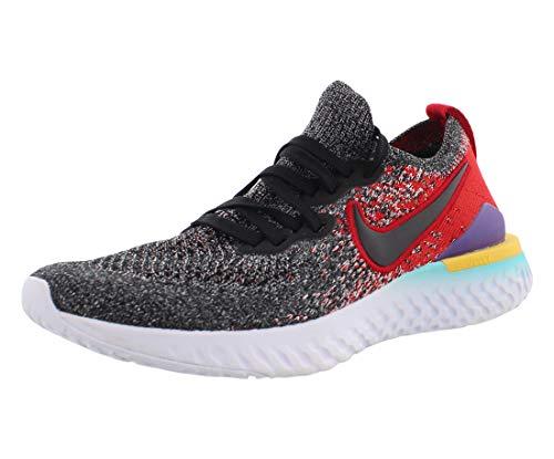 Nike Epic React Flyknit 2 (GS), Scarpe da Atletica Leggera Bambino, Multicolore (Black/Black/Hyper Jade/University Red 7), 36 EU