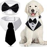 Set de 3 Bandanas de Esmoquin Formal de Boda de Perros Incluye Corbatas de Perros Collar Formal de Pajarita de Mascotas Collar de Esmoquin de Perro para Cachorros Gato Trajes de Boda