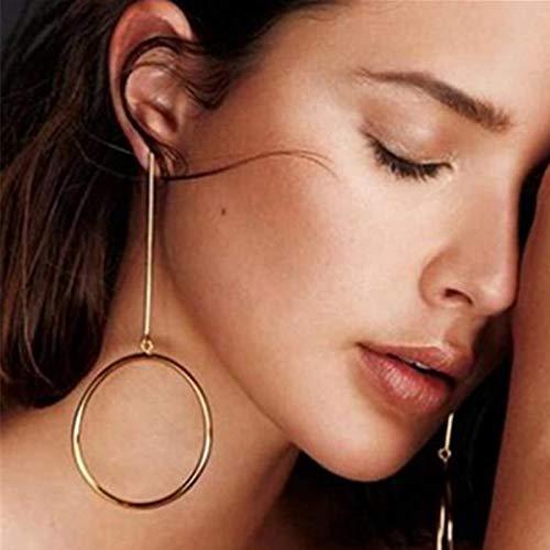 Burenqi Oorbellen, sieraden, rond, cirkelvormige oorbellen, voor vrouwen, goudkleurig, lange, grote oorbellen, leuk cadeau, sieraden