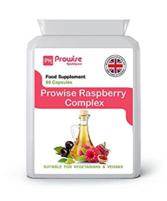 Prowise Raspberry Complex - 60 Capsules ( Advance Formulation ) | RASPBERRY FRUIT EXTRACT | GREEN TEA | CAYENNE POWDER | CAFFEINE | GREEN TEA EXTRACT | ACAI BERRY & APPLE CIDER VINEGAR
